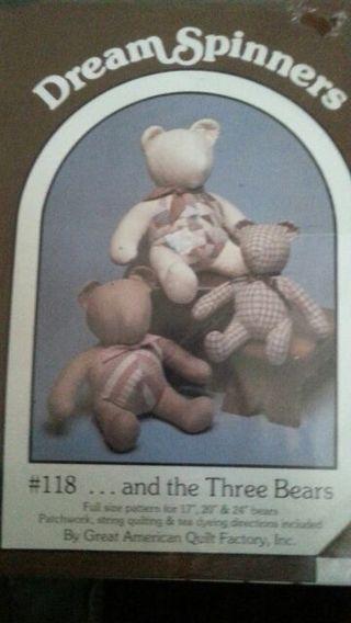 Free: Dream Spinners Teddy Bear Pattern #118