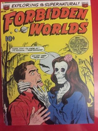 FORBIDDEN WORLDS DECEMBER COMIC POSTCARD