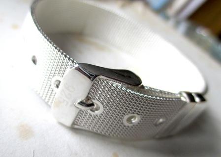 Free Sterling Silver Belt Buckle Bracelet Bn