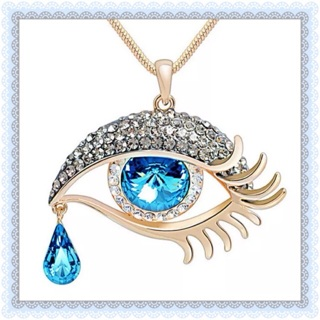 Gold plated Eye tear drop necklace