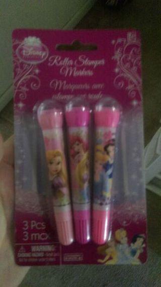 Free shipping Disney princess roller stamper markers