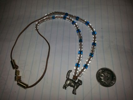 Beaded Cat Charm Necklace