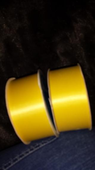 Beautiful Yellow Ribbon 2 rolls (ten yards each)/ GIN for 4 ten yard rolls (40 yards!)