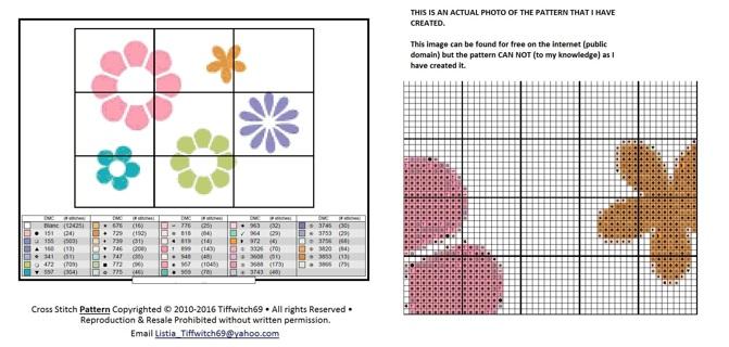 Flower Cross Stitch Patterns ***WINNERS CHOICE***