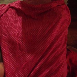 Pink 1x polka dot shirt