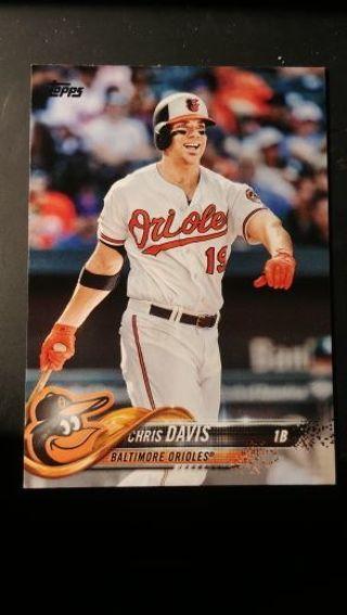 2018 Topps - Baltimore Orioles - Series 2 - lot of 4 feat. Chris Davis