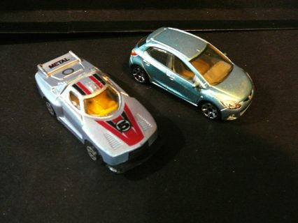 2 Unique Cars, Matchbox 2008 Mazda 2 and another Unbranded Car