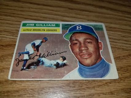 1956 Topps Baseball Jim Gilliam #280 Brooklyn Dodgers,VG condition,Free Shipping!