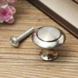 4x Round Cabinet Cupboard Door Furniture Hardware With Screw Pull Knobs Handles