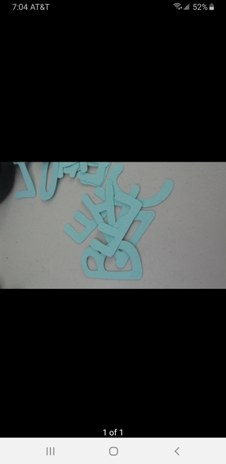 2 set Alphabet Letters, 4 sets numbers 0-9 including ?!()#& Cut outs. 1.5 inch. Choose color.