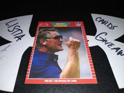 1989 nfl pro set Don Shula Coach. Card Dolphins