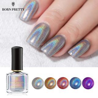 BORN PRETTY Holographic Laser Nail Polish 6ml Flourish Series Varnish Shining Glitter Nail Art Lac