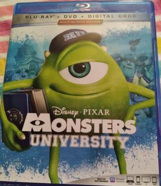 ⭐☃☃❄❄ Disney Pixar's Monsters University Blu-Ray 2 Discs Brand New Case & Artwork ☃☃❄❄⭐