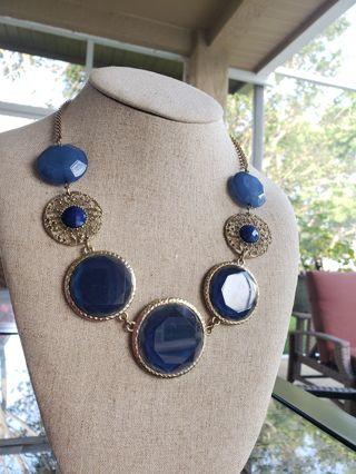 Stunning Blue Statement Necklace