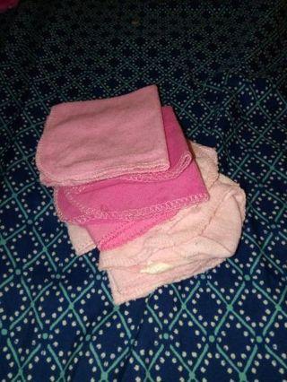 Pink wash cloths