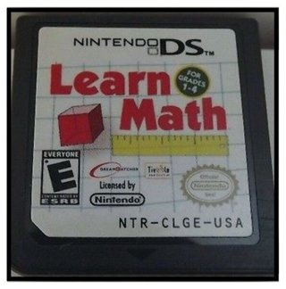 """NINTENDO DS """"LEARN MATH"""" GAME *NO CASE* BACK TO SCHOOL TREAT!! L@@K ;-)"""