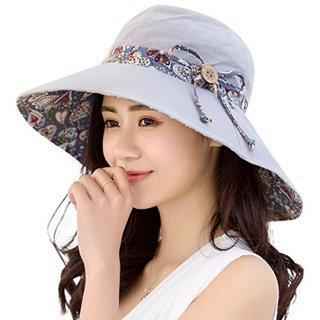HAPEE Womens Sun Hat,Both Sides wear,UPF 50+ Beach Garden Hat Foldable Wide Brim