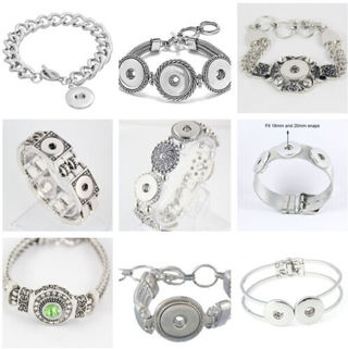 New Interchangeable Snap Bracelets Jewelry fit For 18MM Snaps Chunk Charm Button