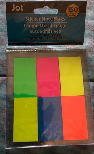 Brand New & Never Used, 150 Colorful Sticker Note Flags. For Class, Projects, Organizing, etc.