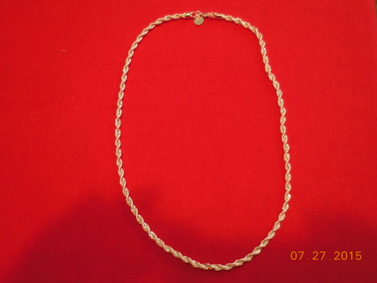 "*** NEW CHAIN ***  24"" 4mm 925 STERLING SILVER TWISTED CHAIN   Free Shipping!!"