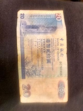 **$20.00 Hong Kong Dollars**