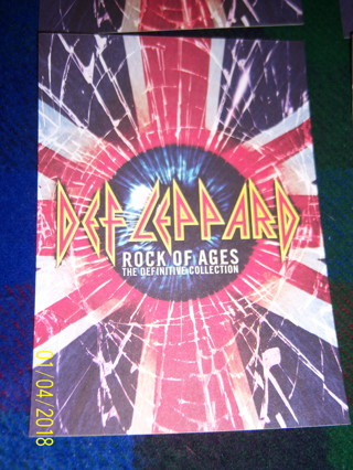 Def Leppard-Rock Of Ages-5x7 Promo Sticker