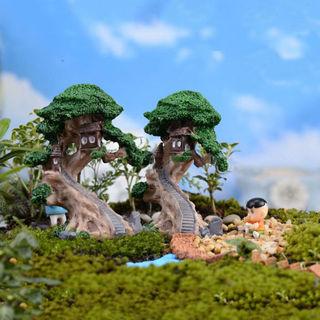Mini Elves Tree House Garden Decor Miniature Figurine Craft Fairy Plant Pot DIY