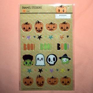 1 Brand New Pack of Enamel Halloween Stickers.
