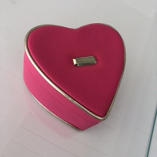 Victoria's Secret Pink & Gold Heart Keepsake Storage Box • Clean • Adorable • Free Shipping