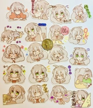 ☆※☆※☆NEW ITEM!!! ♥♥ADORABLY CUTE KAWAII TEA PARTY GIRL (HIGH END) STICKER FLAKES 20 PC♥♥