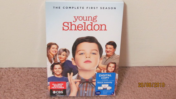 Young Sheldon Season One DVD, NEW in Package