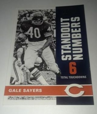 GALE SAYERS CHICAGO BEARS STANDOUT NUMBERS