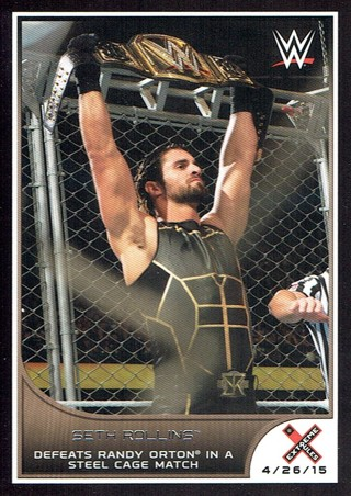 WWE WWF Extreme Rules 2016 Topps Collectible Wrestling Card Seth Rollins #24
