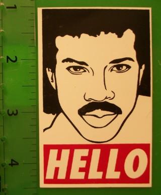 Hello lionel richie obey vinyl sticker decal weatherproof