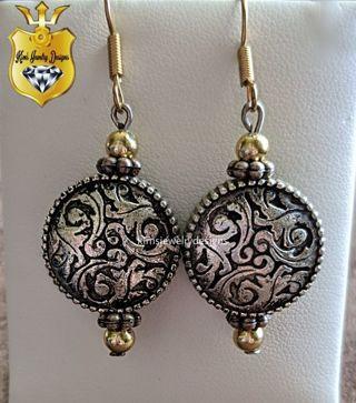 ❤️ price drop ❤️ Unique handmade two-tone earrings