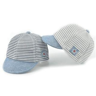 HPBBKD Cotton Infant Baby Hats Cute Casual Striped Soft Eaves Kids Baseball Cap Baby Boy Girls Sun