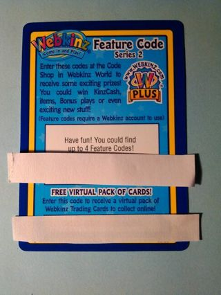 Free: Webkinz Feature Code Series 2 Trading Card Game Card - Other