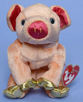 0f9cf0a8cd3 Free  TY Beanie Babies Pig w-gold feet! Zodiac Series RARE! W  GOLD ...