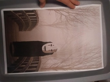 spirited away no face anime poster