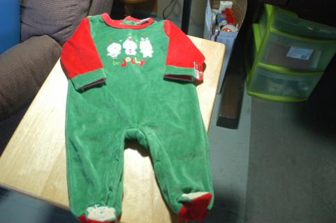 3/6 Mo. Christmas Sleep and Play Outfit