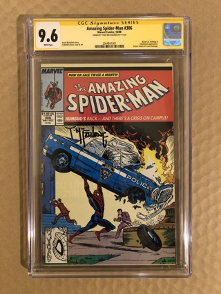 Spider-man 306 Signed by Todd McFarlane Action Comics Homage CGC 9.6