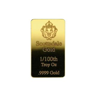 1 pcs, 1/100 oz .9999 Gold Bar by Scottsdale Mint - Fractional Gold Bullion #A504