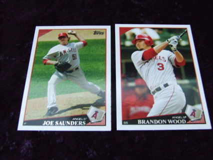 2009 Los Angeles Angels Topps Card Lot of 2