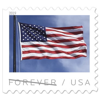 2 Forever unused Flag stamps
