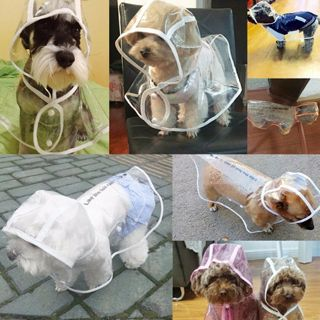 Transparent Pet Rain Coat for Dogs Pet Jacket Cute Casual Waterproof Dog Clothes