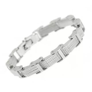 Fine stainless steel mesh clasp unisex bracelet! See pics