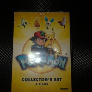 Pokémon collector set ! 4 movies dvd