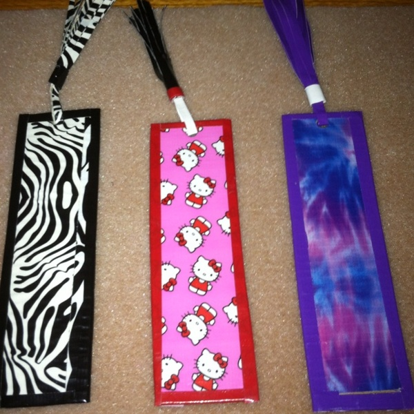Free book marks duck tape other books for Duck tape craft book