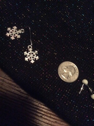 Snowflake earrings plus bonus!