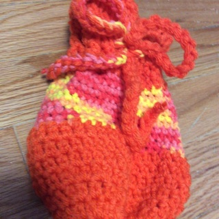 Hand Crochet Beautiful Gift Bag/Sack.